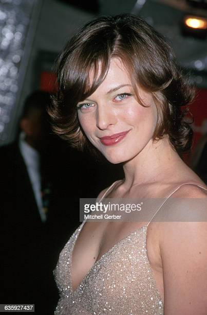 New York City Milla Jovovich at the 1999 'Rock Style' Gala at the Met