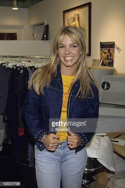 New York City NY NEW YORK NY Britney Spears poses in a Studio in 1998 in New York City