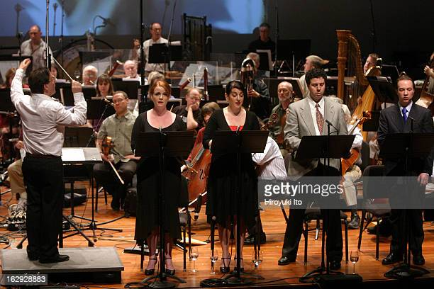 New York City Opera presents 'Vox 2007 Showcasing American Composers' at the Skirball Center on Saturday afternoon 2007 This imageThe conductor Marc...