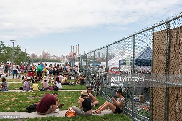 New York City Outdoor Food Festival in Williamsburg Brooklyn