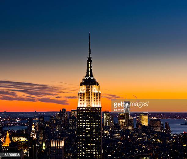 new york city - empire state building stock pictures, royalty-free photos & images