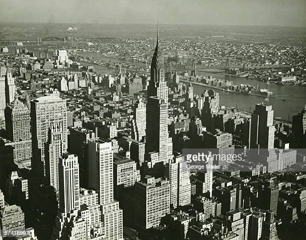 new york city, (b&w), (aerial view) - 1930~1939年 ストックフォトと画像