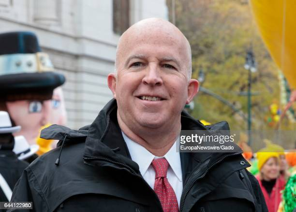New York City Police Commissioner James O'Neill during the 90th Macys Thanksgiving Day Parade in New York City New York November 24 2016