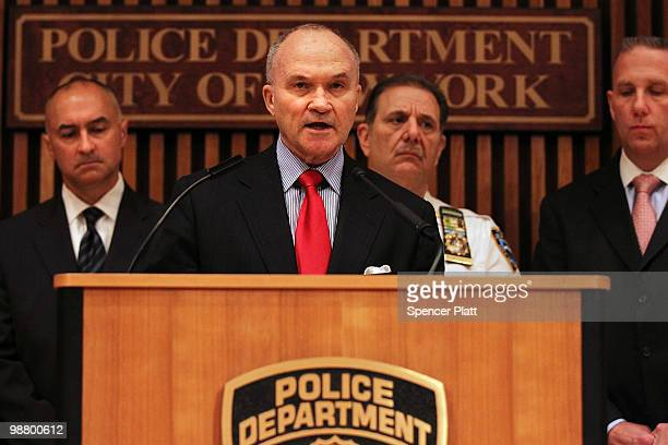 New York City Police Commissioner Raymond W Kelly speaks to the media about a car bomb that was discovered before it could be detonated in Times...