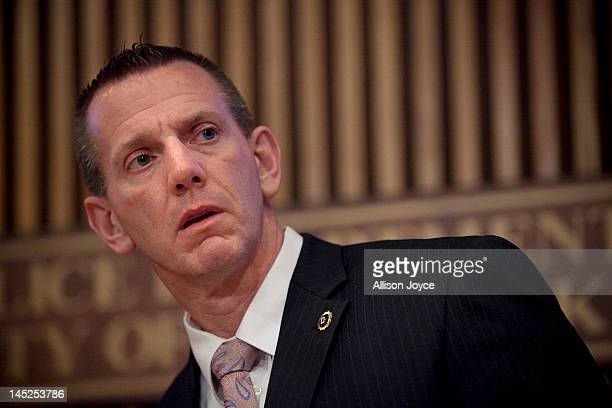 New York City Police Department Lt Chris Zimmerman head of the missing persons unit speaks at a news conference at Police Headquarters May 24 2012 in...