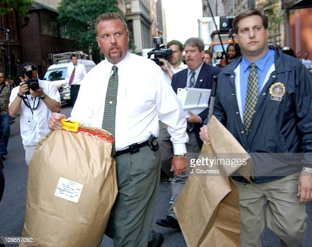 New York City Police Detectives and Crime Scene Investigators depart the residence of Eric Douglas Eric Douglas was found dead in his apartment in...