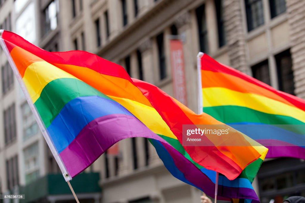 New York City Pride Parade - Flags : Stock Photo