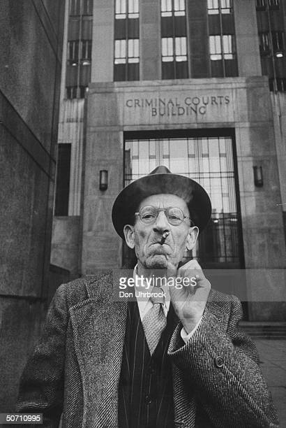 New York City relief pensioner Harry Schwertzer who used his relief money to buy stock was arrested for grand larceny and welfare law violations