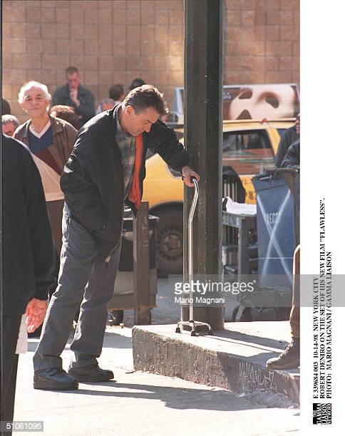 New York City Robert Deniro On The Set Of His New Film 'Flawless'