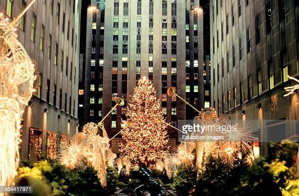 New York City Rockefeller Center At Christmas