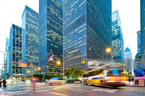 new york city, rockefeller center at night - sixth avenue stock pictures, royalty-free photos & images