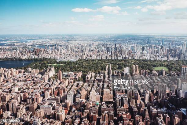 New York City Skyline and Central Park Aerial View