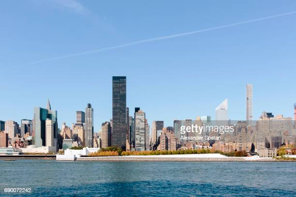New York City skyline and East River, NY, United States