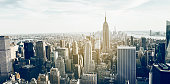 New York City skyline and Empire State Building