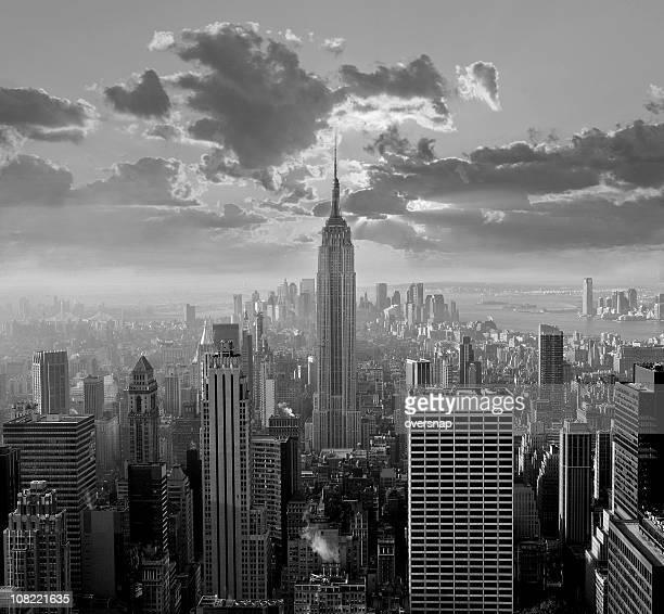 New York City Skyline schwarz und weiß