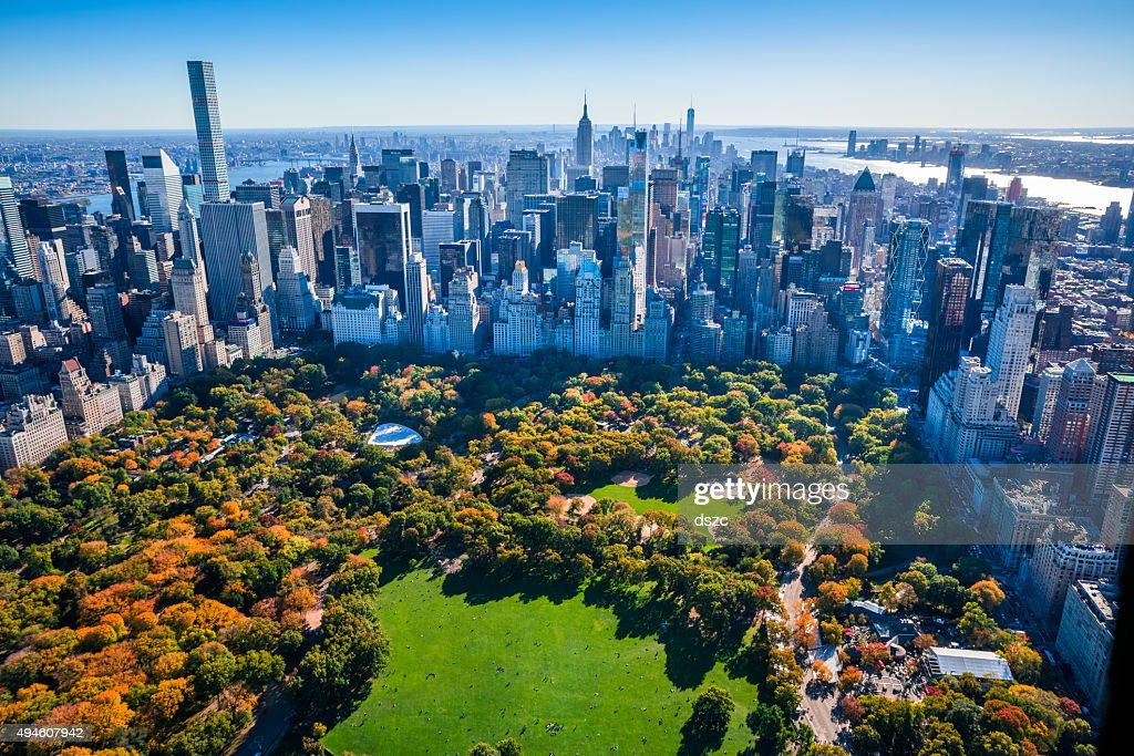 New york city stock photos and pictures getty images new york city skyline central park autumn foliage aerial view sciox Gallery