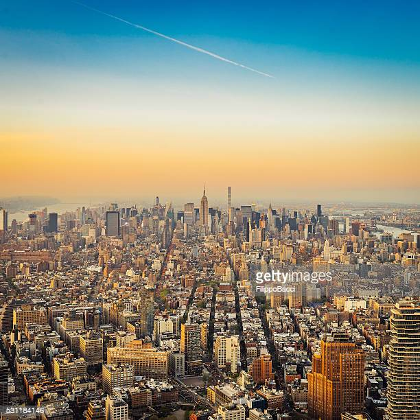 New York City Skyline - Empire State Building At Sunset
