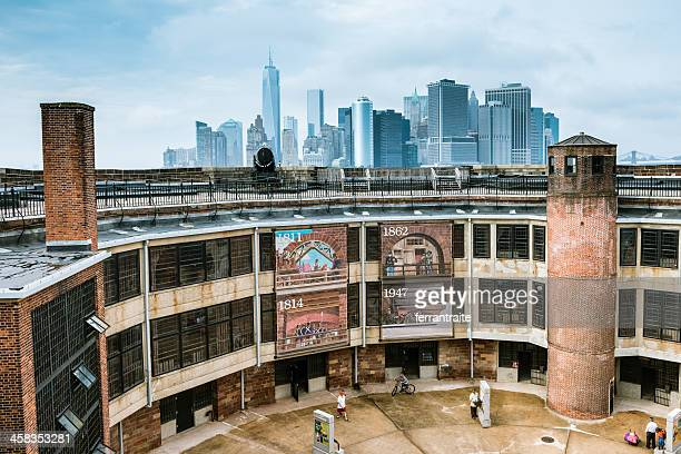 new york city skyline form governors island - governors island stock pictures, royalty-free photos & images