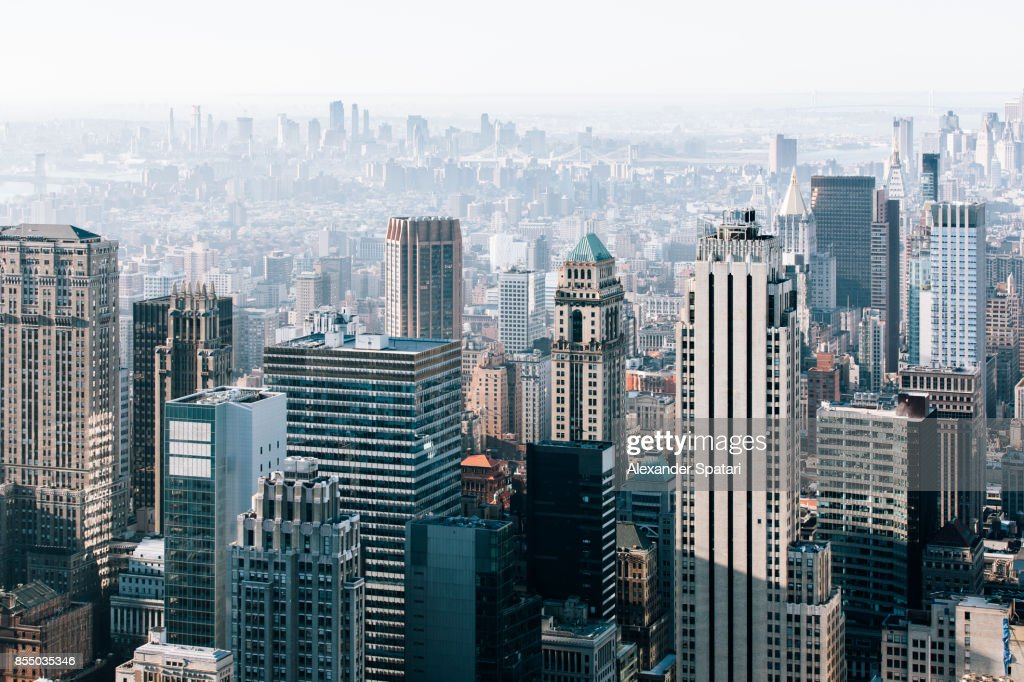 New York City skyline in the morning, United States : Stock Photo