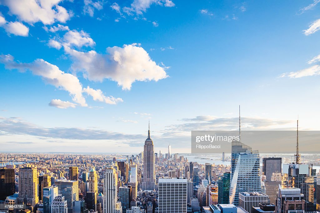 New York City Skyline - Midtown and Empire State Building : Stock Photo