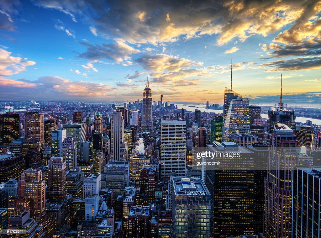 new york city skyline midtown and empire state building stock photo getty images. Black Bedroom Furniture Sets. Home Design Ideas