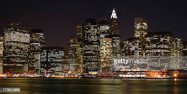 New York City skyline on a clear night