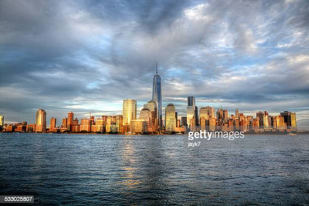 new york city skyline - river hudson stock pictures, royalty-free photos & images