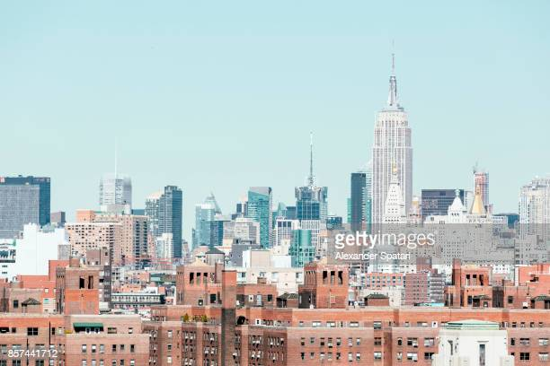 New York City skyline with Empire State Building on the right, NY, USA