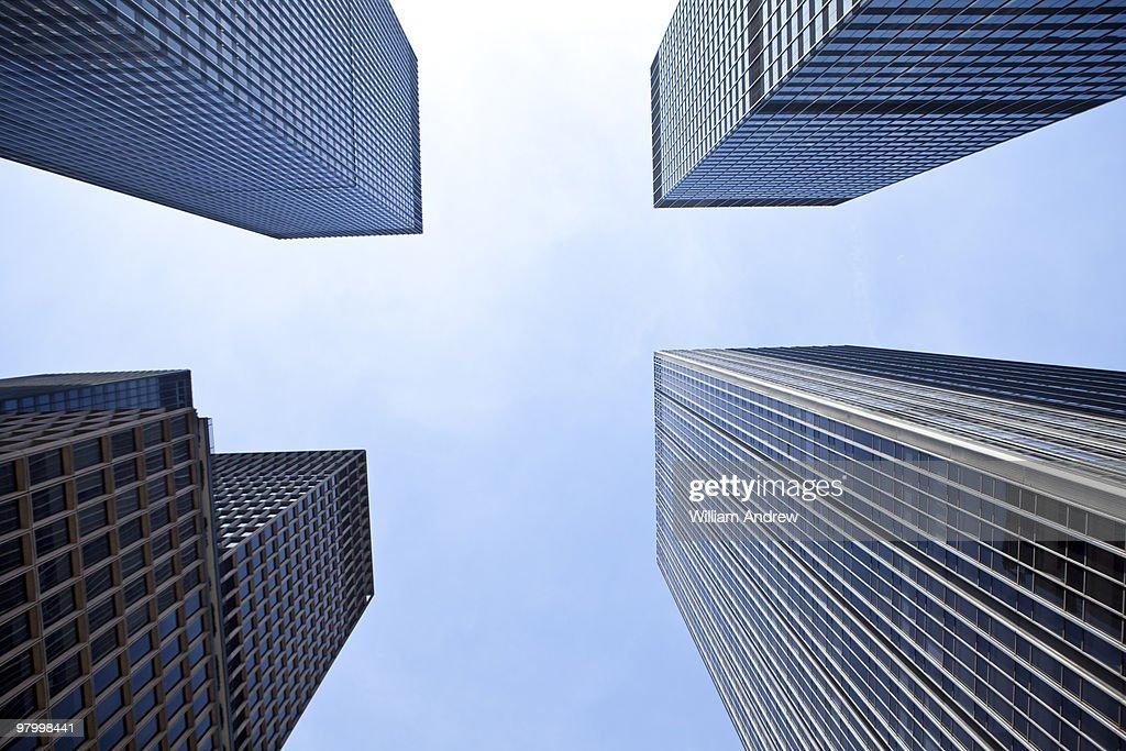 New York City skyscrapers : Stock Photo