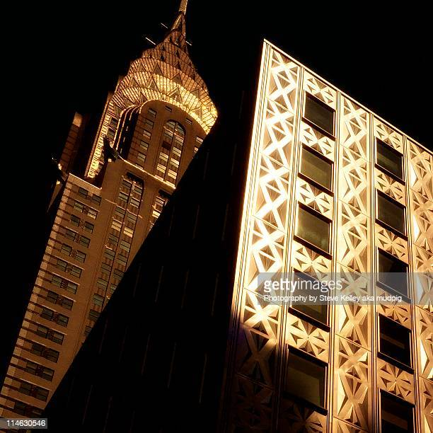 new york city squared - chrysler building stock pictures, royalty-free photos & images