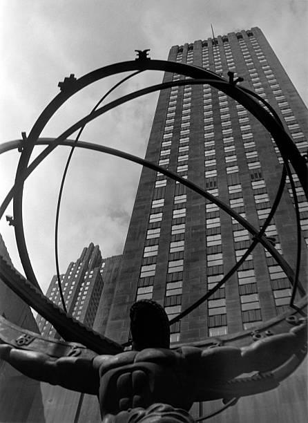 New York City, Statue Of Atlas, Rockefel Wall Art