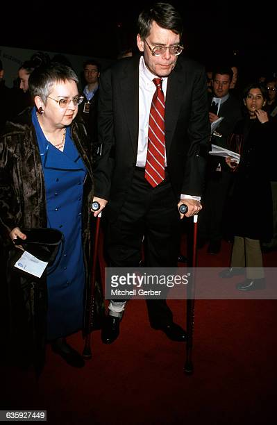 New York City Stephen King and wife at the Green Mile premiere at the Ziegfeld Theater