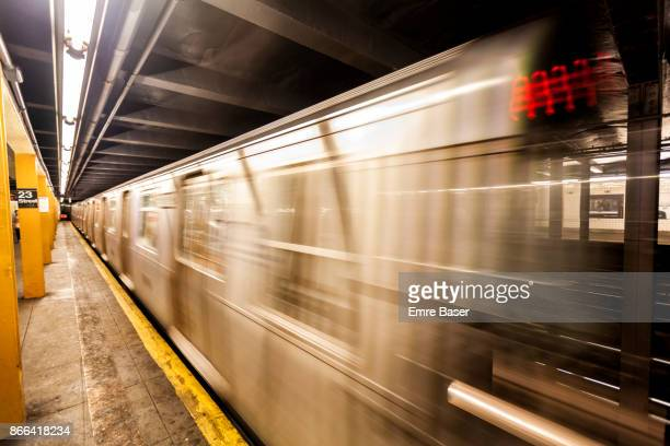 new york city subway car - eastern usa stock photos and pictures