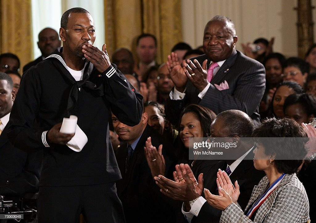 Bush Celebrates African American History Month At White House : News Photo
