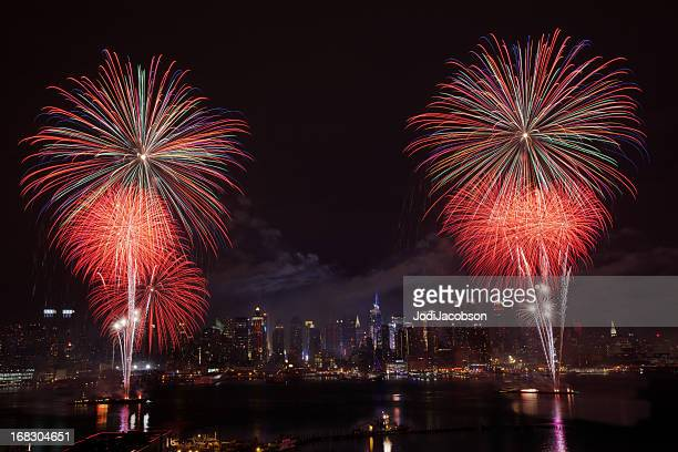 New York City Syncronized Fireworks