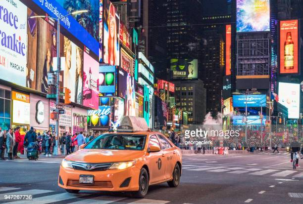 New York City Taxi passing Times Square