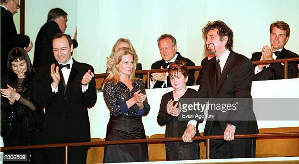 New York City The Film Society of Lincoln Center Gala Tribute to Al Pacino at Avery Fisher Hall Honoree Al Pacino with Front row Diane Venora Kevin...
