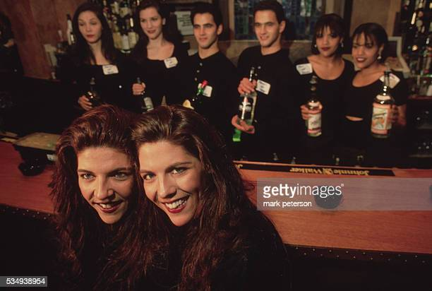 The Twins Restaurant Where Owners And Staff Are Identical Twins Debra and Lisa Ganz coown this bar with actor Tom Berenger