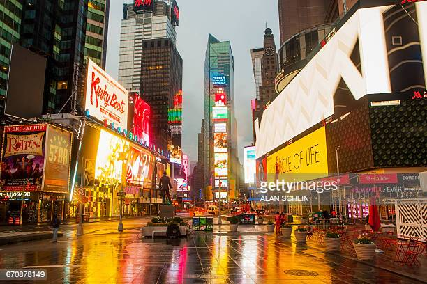 New York City, Times Square, Neon lights and ads of Times Square