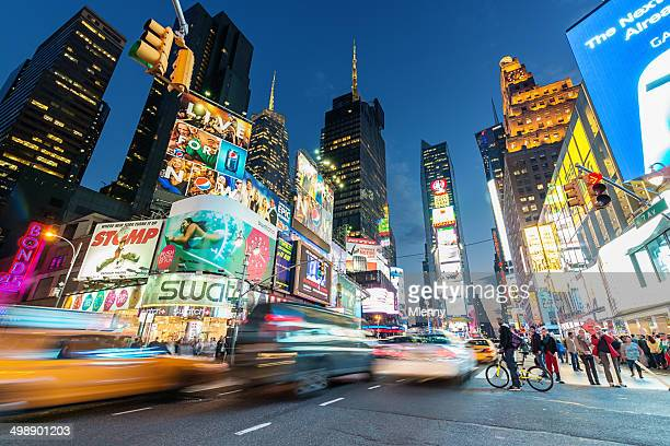 new york city times square - stad new york stockfoto's en -beelden