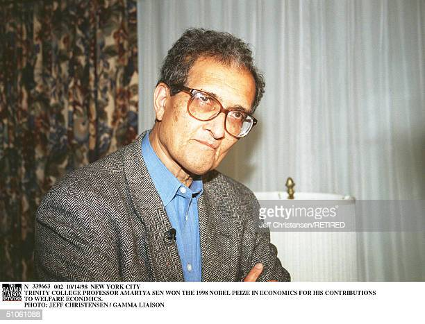 New York City Trinity College Professor Amartya Sen Won The 1998 Nobel Peize In Economics For His Contributions To Welfare Econimics
