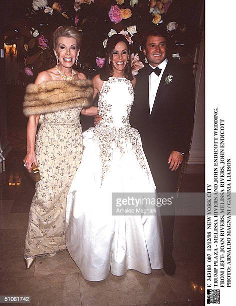 New York City Trump Plaza Melissa Rivers And John Endicott Wedding From Left Joan Rivers Melissa Rivers John Endicott