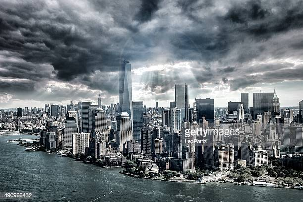 New York City under the storm