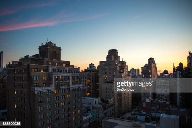 New York City Upper East side sunset