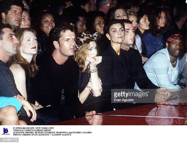 New York City Versace Versus Fashion Show Julianne Moore Rupert Everett Madonna And Ingrid Casares