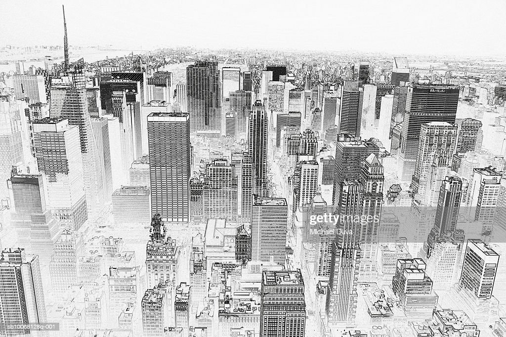 Line Art City : Line art stock photos and pictures getty images