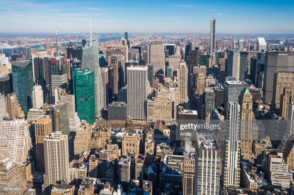 View over Manhattan. : News Photo