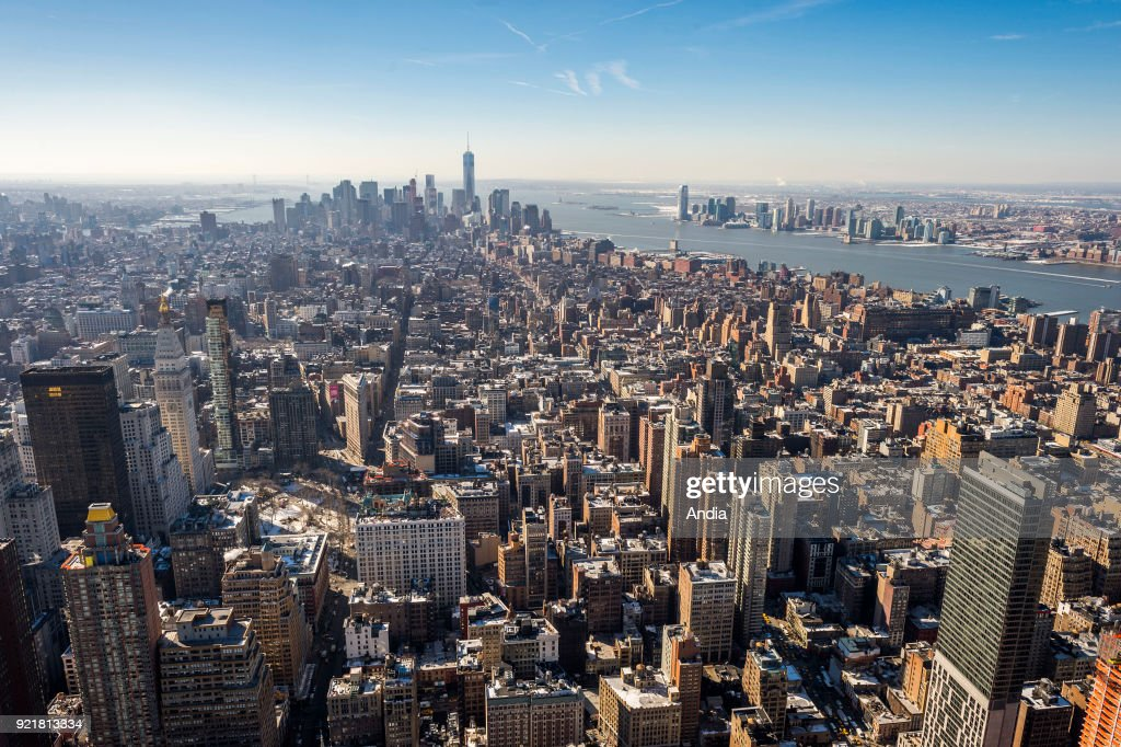 view over Manhattan from the Empire State Building.