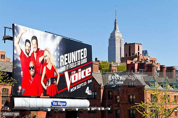 new york city view - the voice television show stock photos and pictures