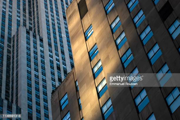 new york city views - rockefeller center stock pictures, royalty-free photos & images